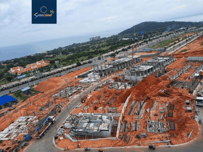 tiến độ dự án summerland phan thiết tháng 10/2020