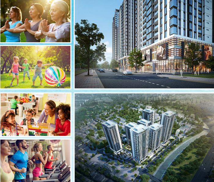 Phối cảnh chung dự án căn hộ The Bue Star quận 7
