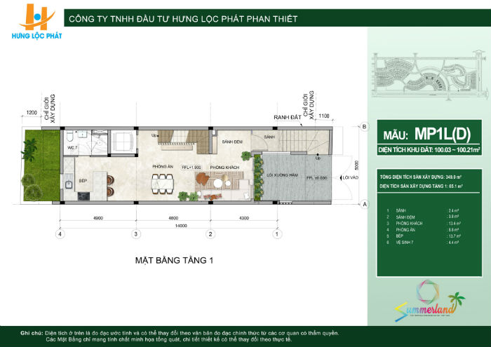 thiết kế dự án summerland phan thiết nhà phố