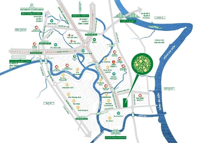 vị trí địa chỉ dự án căn hộ Green Star Sky Garden quận 7