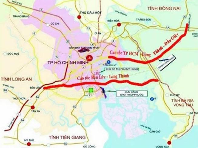 bản đồ quy hoạch cao tốc bến lức long thành