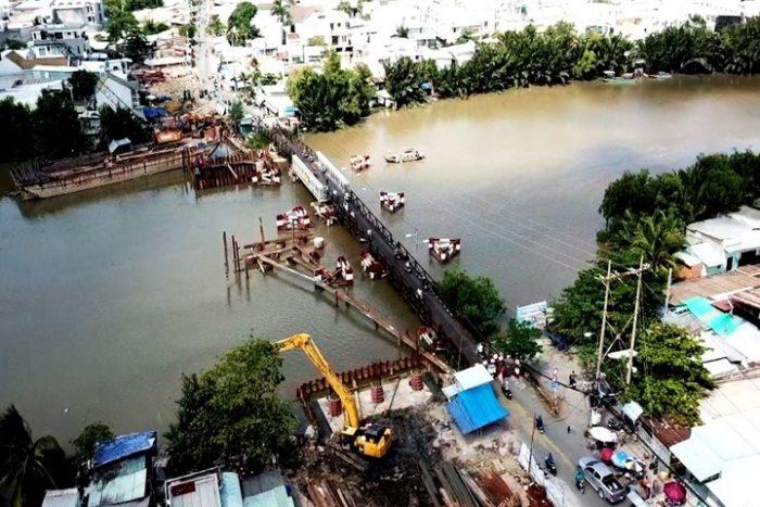 dự án xây mới cầu long kiểng lê văn lương nhà bè 2019