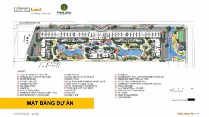 mặt bằng tiện ích dự án Celesta Rise Keppel Land